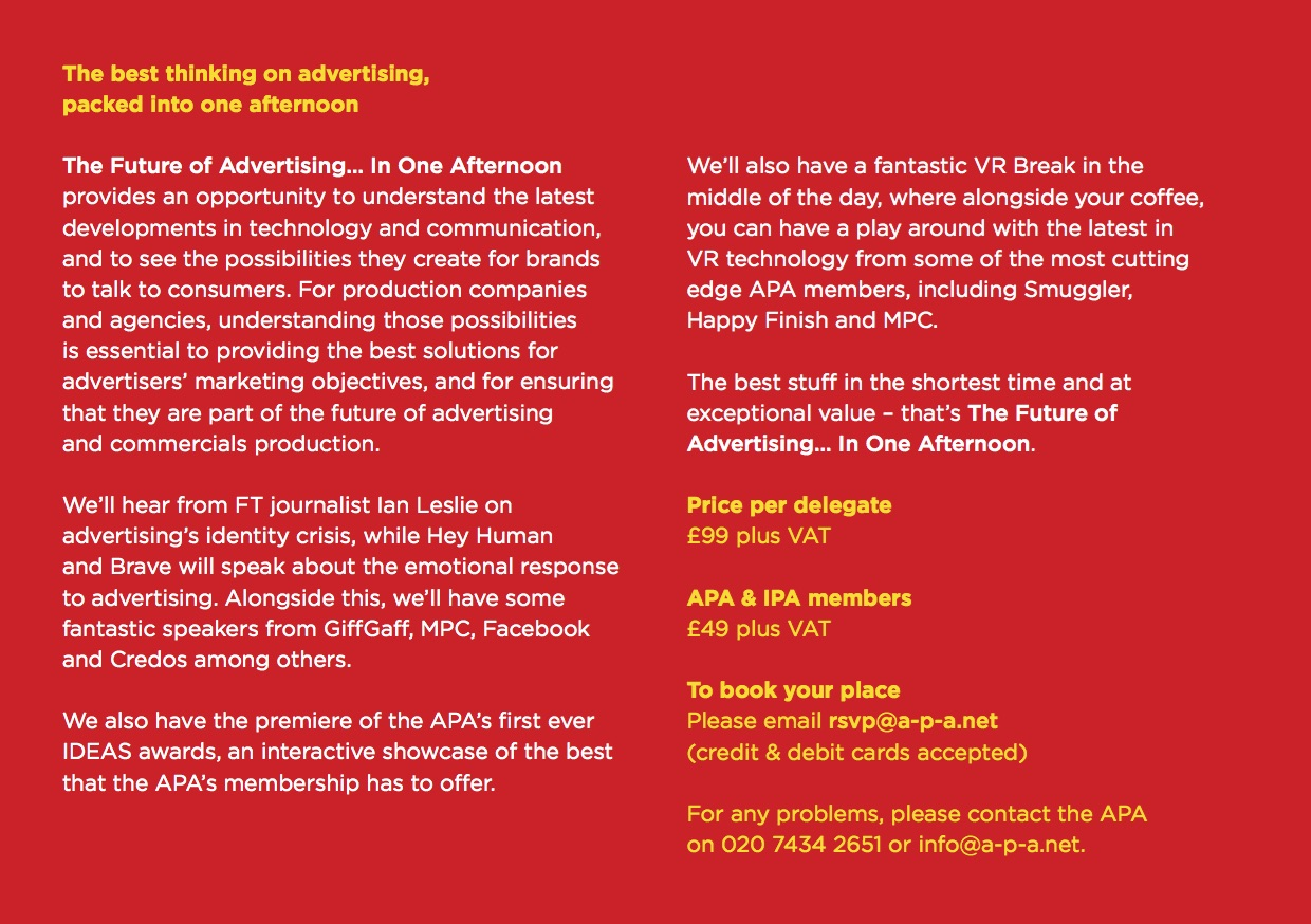 The Future of Advertising… In One Afternoon – tickets