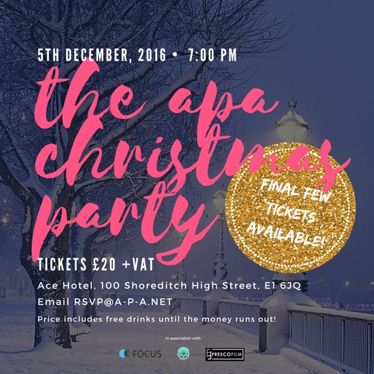 The APA Christmas Party | Handful of Tickets Left!